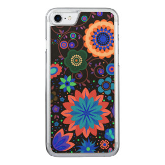 Neon Flowers Carved iPhone 8/7 Case