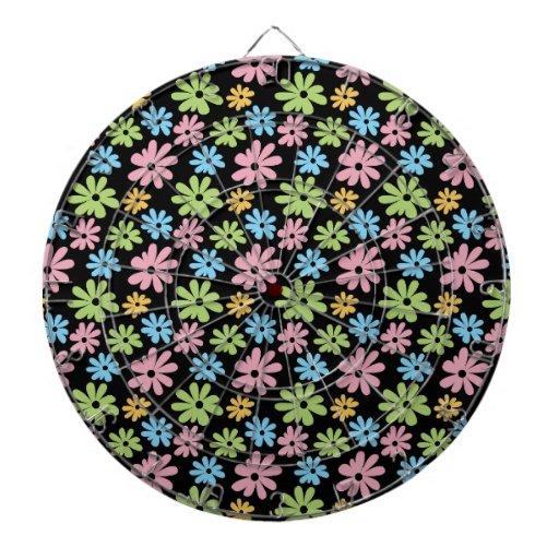 Neon Flowers Dartboards