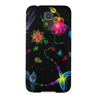 Neon Flowers Galaxy S5 Cover