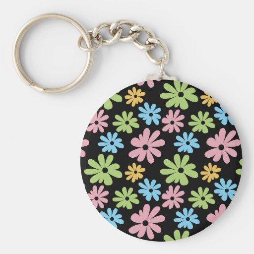 Neon Flowers Key Chains