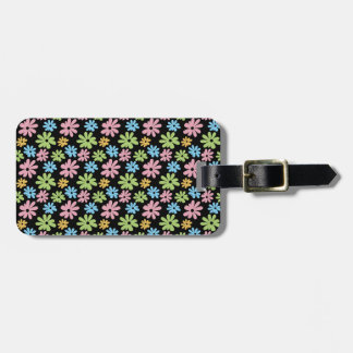 Neon Flowers Luggage Tag