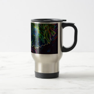 Neon Flowers Coffee Mug