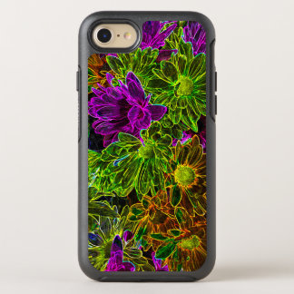 Neon Flowers OtterBox Symmetry iPhone 8/7 Case