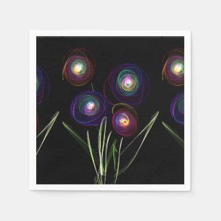 Neon Flowers Paper Napkin