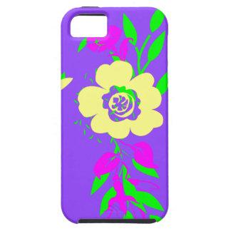 Neon Flowers Purple iPhone 5 Cases