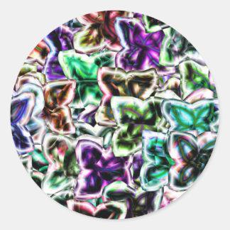 Neon Flowers Round Sticker