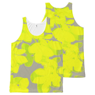 neon flowers tank All-Over print tank top