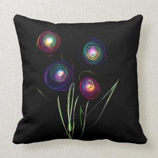 Neon Flowers Throw Pillow Throw Cushions