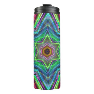 Neon Fluorescent Psychedelic Pastel Star Shape Thermal Tumbler