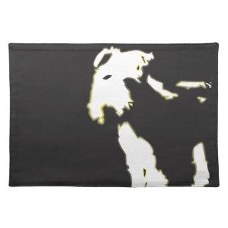 Neon fox terrier placemats