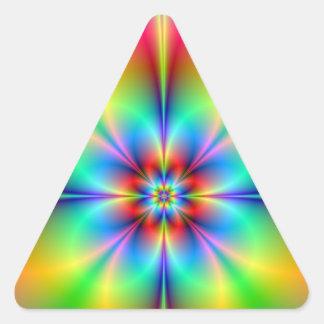 Neon Fractal Flower sticker