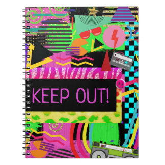 Neon Fun Bright Bold Colorful Funky 80's Rad Fresh Notebook
