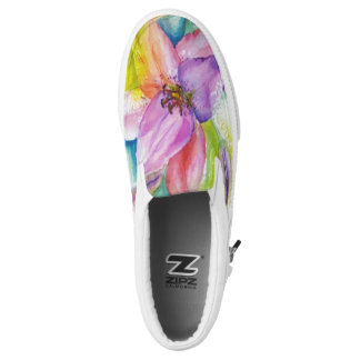 NEON FUNKY LILY PRINTED SHOES
