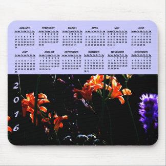 Neon Garden 2015 Calendar Mouse Pad