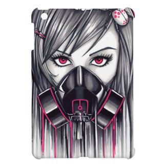 Neon Gas Mask Girl iPad Mini Cases