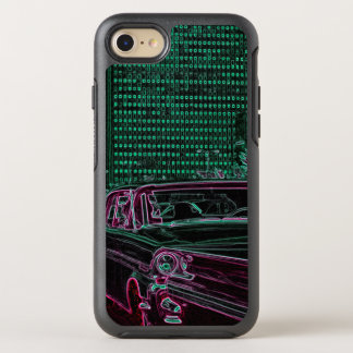 Neon Glow Chicago 1950's Car Michigan Avenue OtterBox Symmetry iPhone 8/7 Case