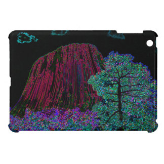 Neon Glow Devils Tower iPad Mini Covers