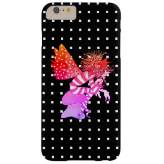 Neon Glow Elf On Geometric Pattern Background Barely There iPhone 6 Plus Case