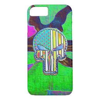Neon Glow Skull iPhone 7 Case