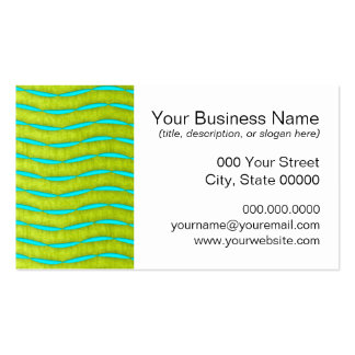 Neon Glow Yellow and Turquoise Bright Fun Pattern Business Card Templates