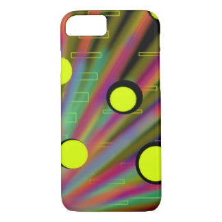 neon glowing futuristic peacock rainbow rays abstr iPhone 7 case