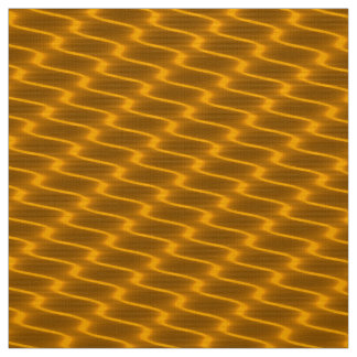 Neon Gold Wavy Lines Fabric Pattern