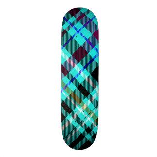 Neon Gothic Plaid Custom Skateboard