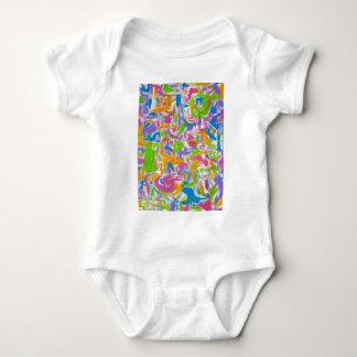 Neon Graffiti-Abstract Art Brushstrokes Baby Bodysuit
