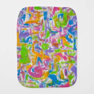 Neon Graffiti-Abstract Art Brushstrokes Burp Cloth