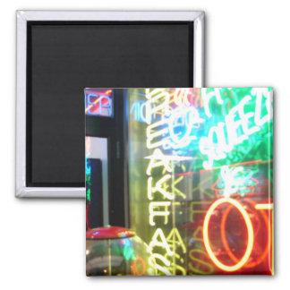 Neon Grafitti Square Magnet