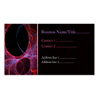 Neon Gravity Business Card Template