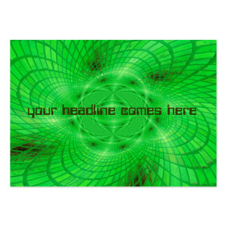 neon green abstraction large business cards (Pack of 100)