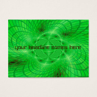 neon green abstraction business card