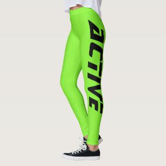Neon Green Active Sport Leggings