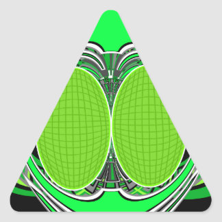 Neon green and gray superfly triangle sticker