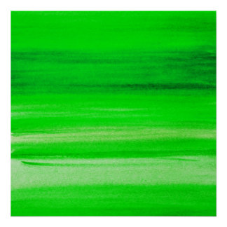 Neon Green Backdrop Watercolor Abstract Background Poster