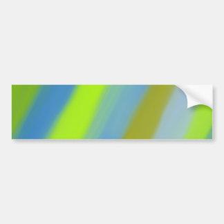 Neon green blue stripes pattern bumper sticker