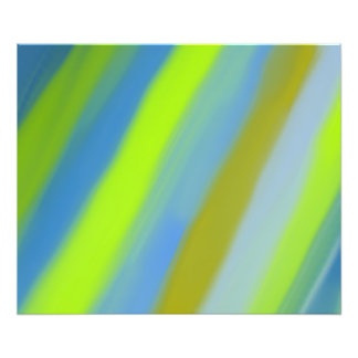 Neon green blue stripes pattern photo print