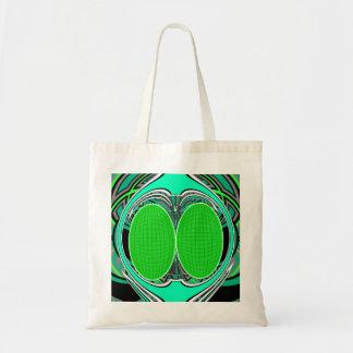 Neon green blue superfly design bag