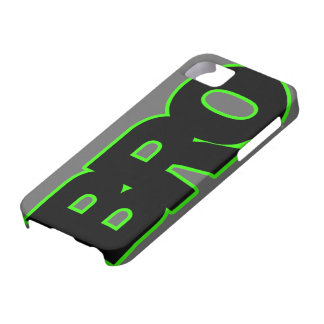 Neon Green BRO iPhone 5 Cases