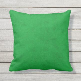 Neon Green Color Velvet Look Grass Green Cushion