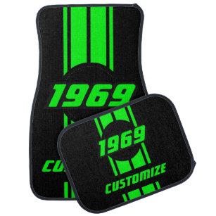 Neon Green Car Floor Mats Zazzle Com Au