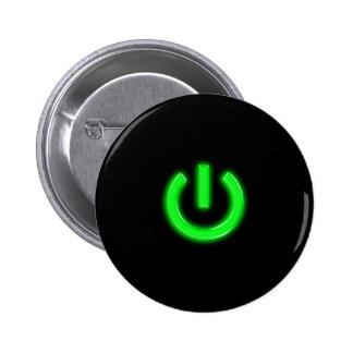 Neon Green Flourescent Power Button