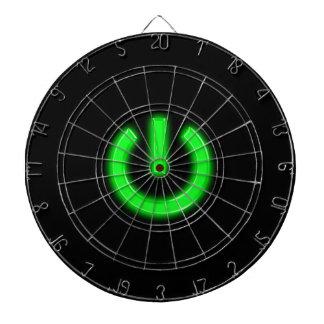 Neon Green Flourescent Power Button Dart Board