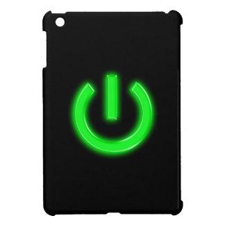 Neon Green Flourescent Power Button iPad Mini Cases