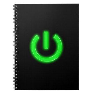 Neon Green Flourescent Power Button Journals