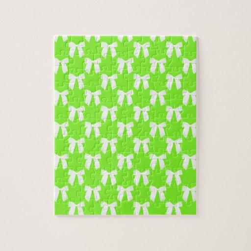 Neon Green Flower Girl Kids Wedding Gift Jigsaw Puzzle