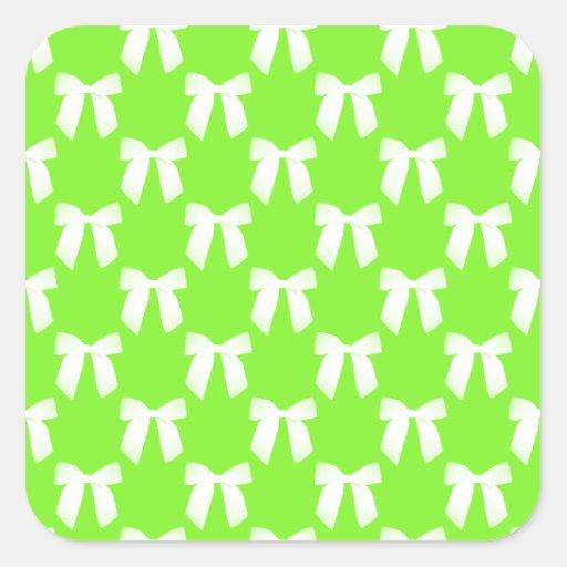 Neon Green Flower Girl Kids Wedding Gift Sticker