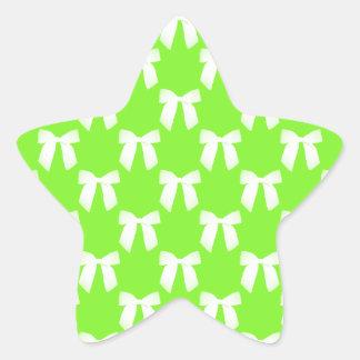 Neon Green Flower Girl Kids Wedding Gift Star Stickers