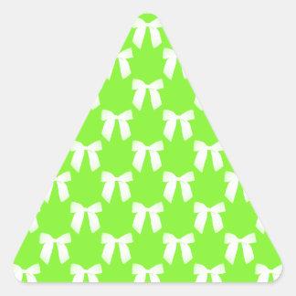 Neon Green Flower Girl Kids Wedding Gift Triangle Sticker